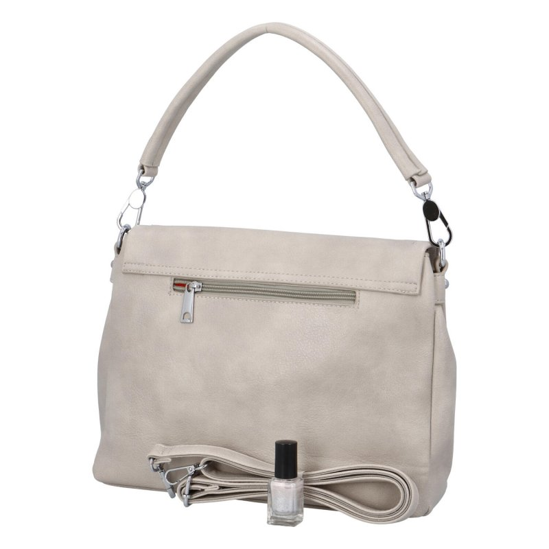Krásná kabelka do ruky Flora BB, šedá