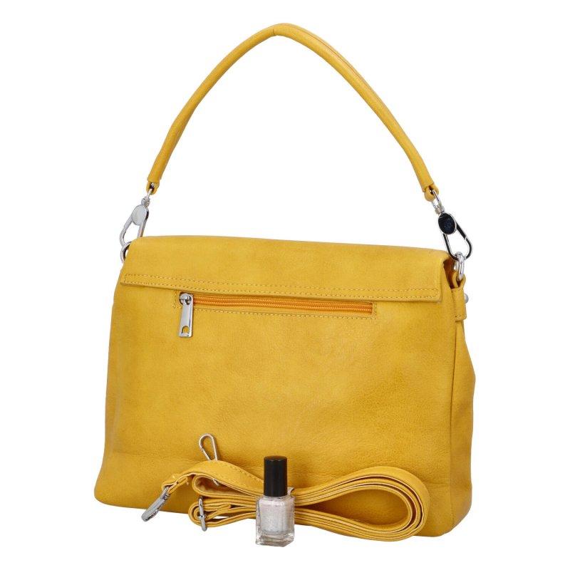Krásná kabelka do ruky Flora BB, žlutá