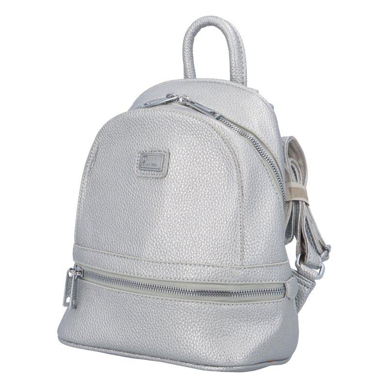 Malý městský batůžek Cyntri, stříbrný