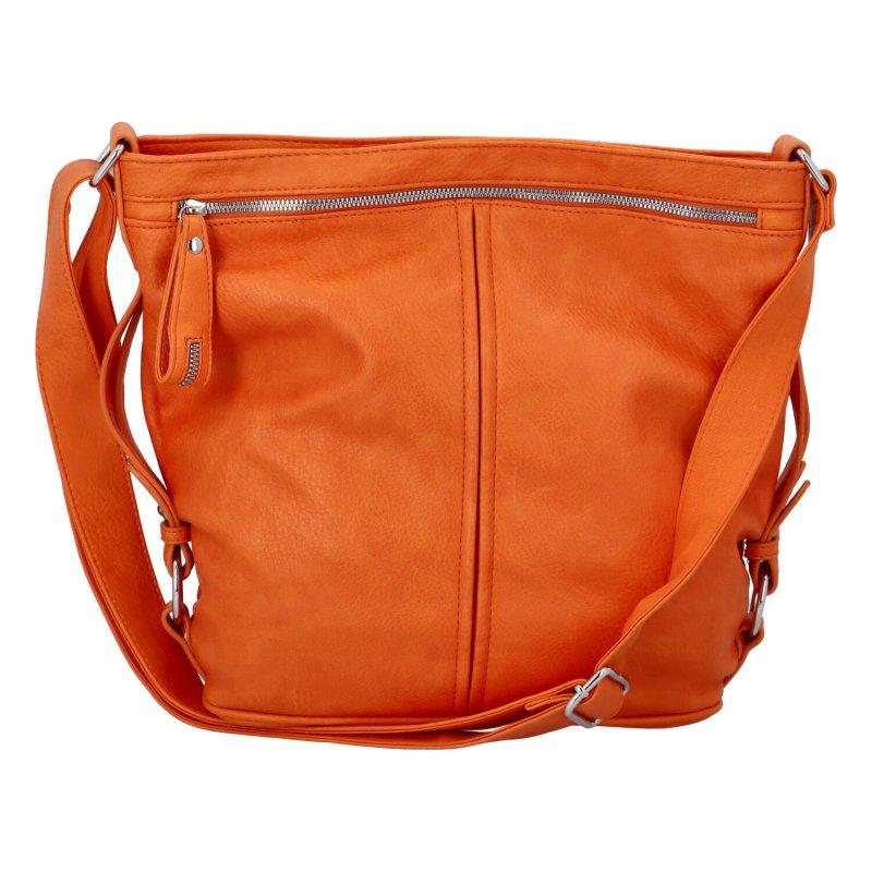 Velká prostorná crossbody kabelka Figo,  oranžová