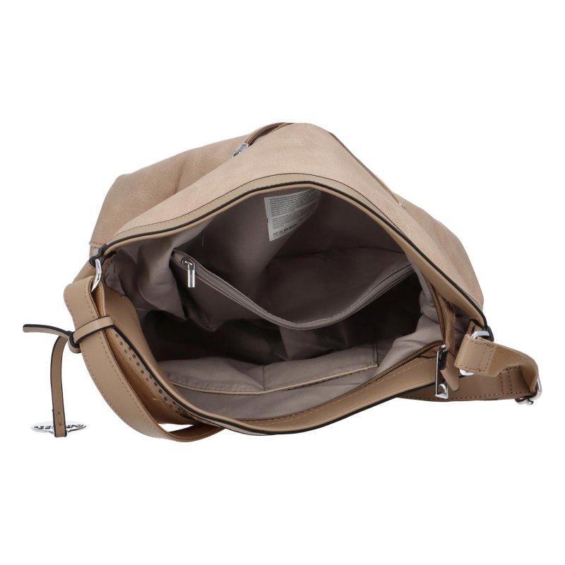 Stylová prostorná dámská kabelka Tony, hnědá
