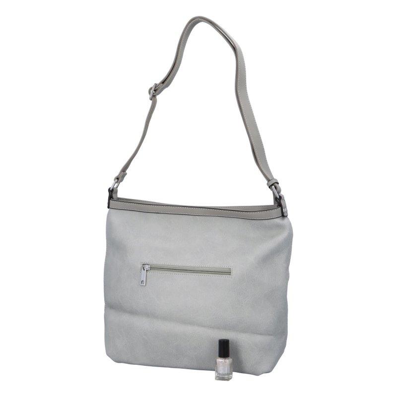 Stylová prostorná dámská kabelka Tony, šedá