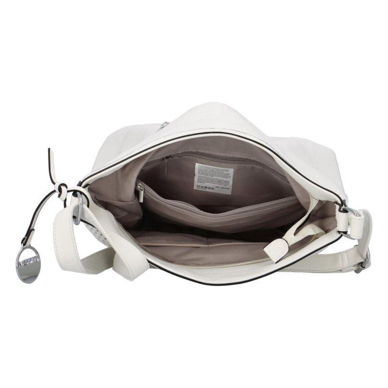 Stylová prostorná dámská kabelka Tony, bílá