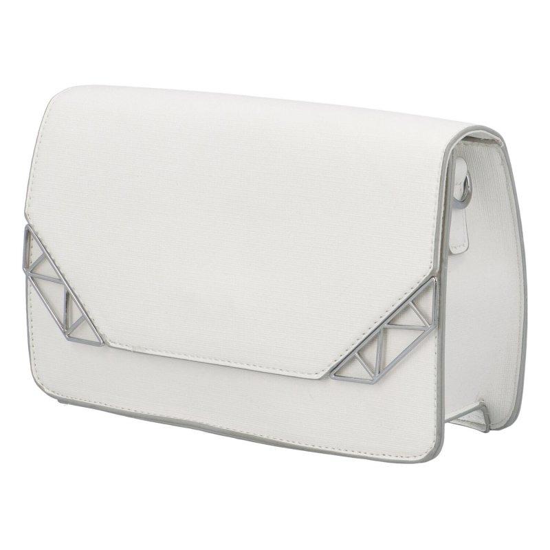 Krásná módní společenská kabelka Dagmar, bílá