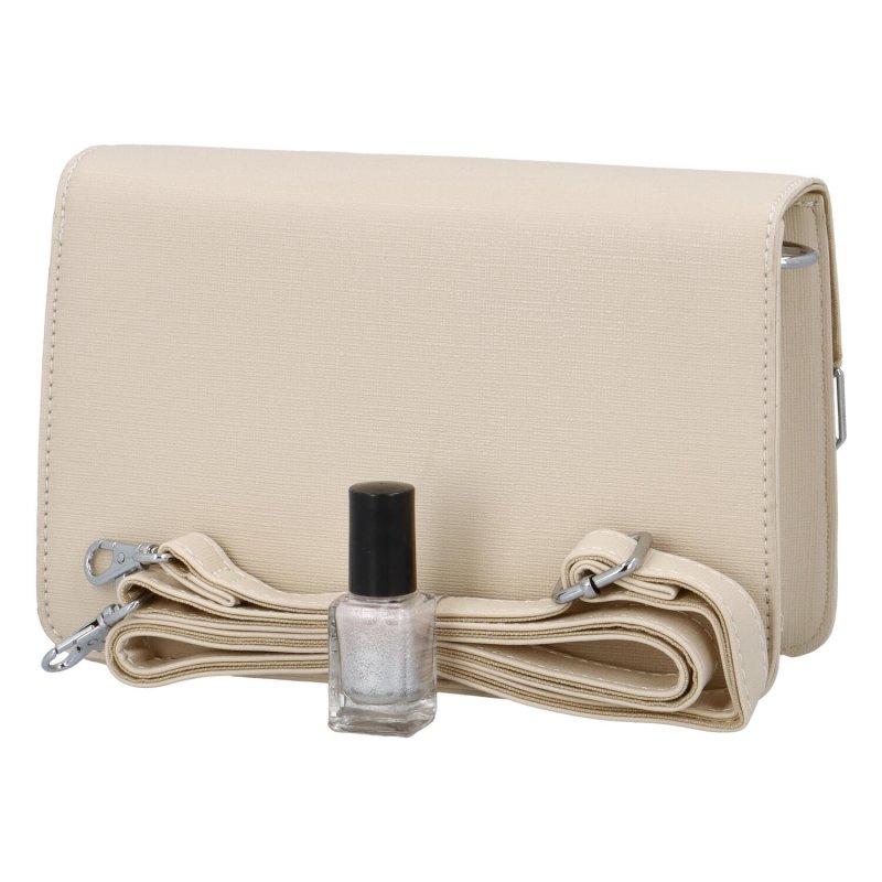 Krásná módní společenská kabelka Dagmar, béžová