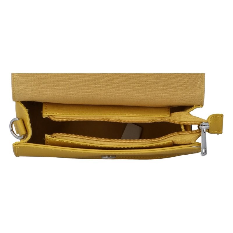 Krásná módní společenská kabelka Dagmar, žlutá