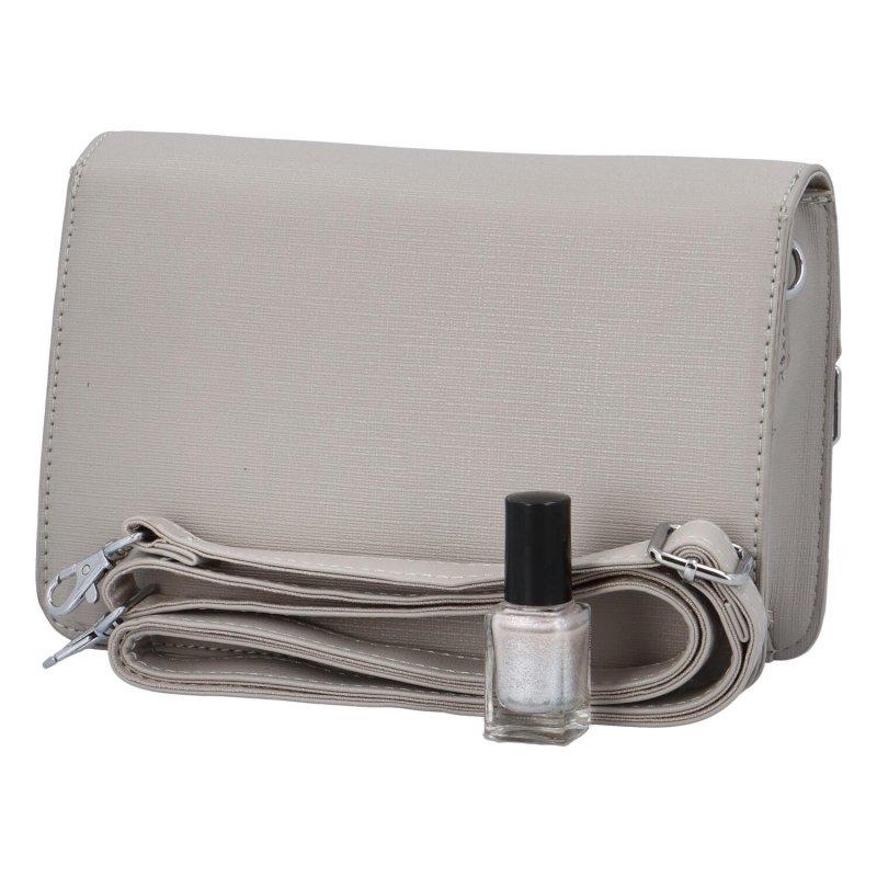 Krásná módní společenská kabelka Dagmar, šedá