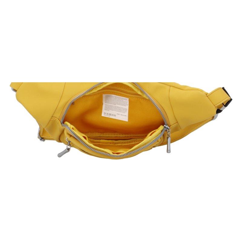 Stylová koženková ledvinka Žofie, žlutá