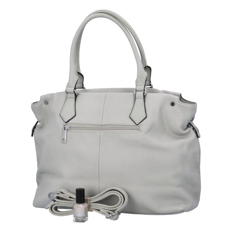 Krásná prostorná dámská kabelka Inez, bílá