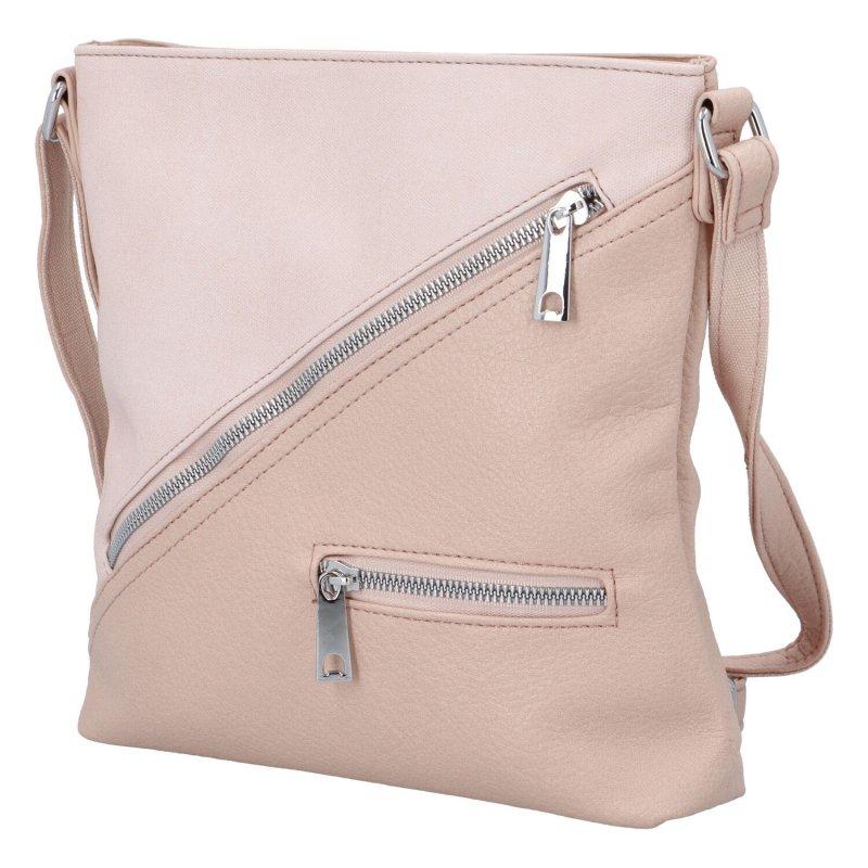 Trendová dámská kabelka Uršula, růžová