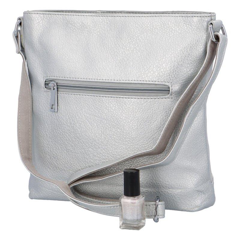 Trendová dámská kabelka Uršula, stříbrná