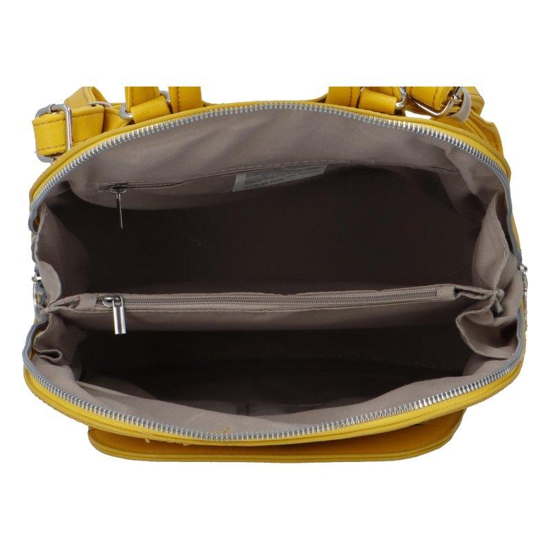 Stylový městský batoh Amalfi, žlutý