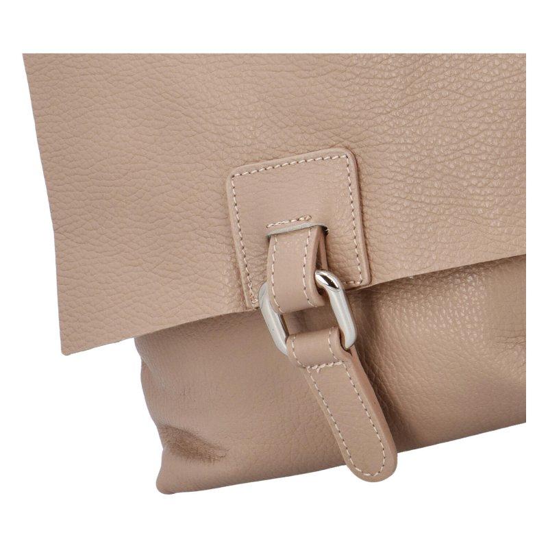 Dámský kožený kabelko batoh Dino, růžový, malý