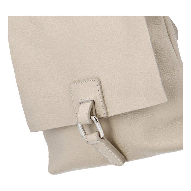Dámský kožený kabelko batoh Dino, béžový, malý