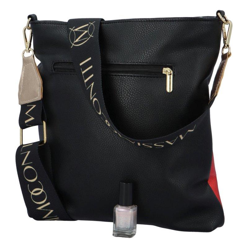 Dámská koženková kabelka MASSIMO Sport Ema, červeno černá