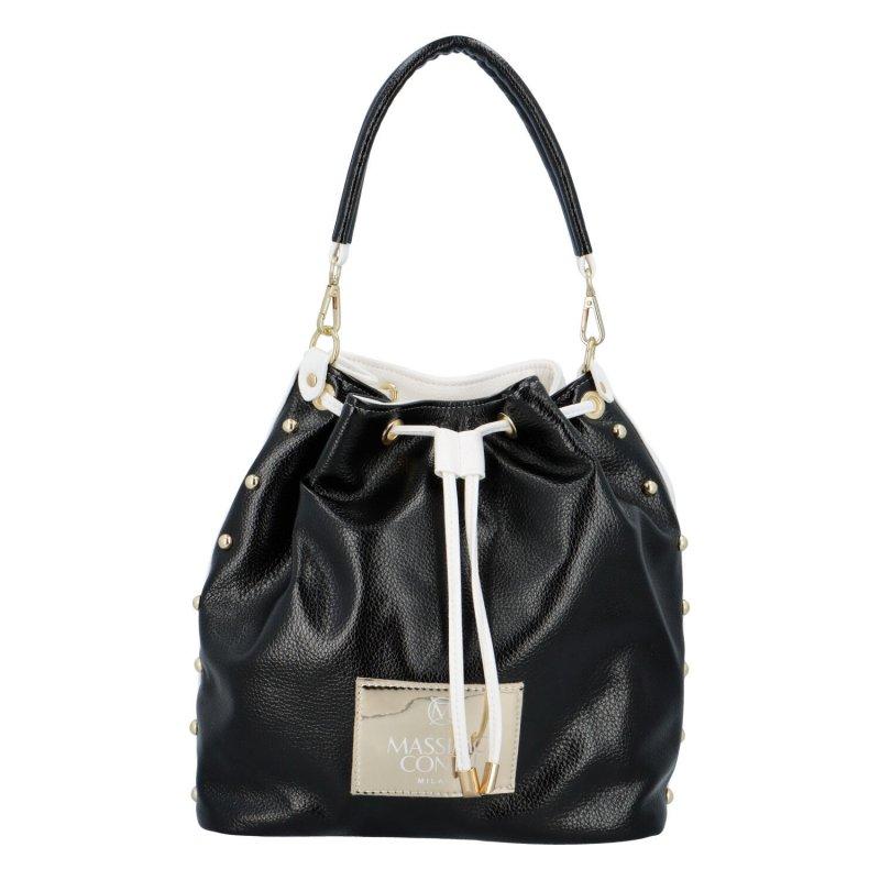 Nepřehlédnutelná dámská koženková kabelka/vak Ernesto, černá