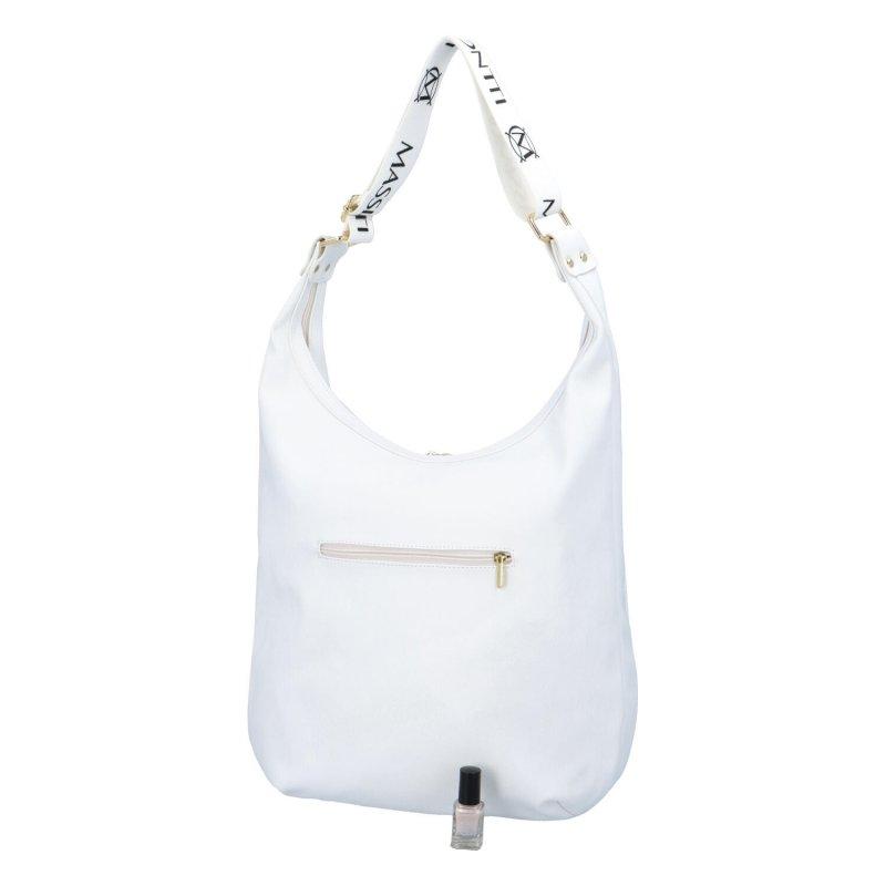 Trendy prostorná kabelka Massimo Emily, bílá