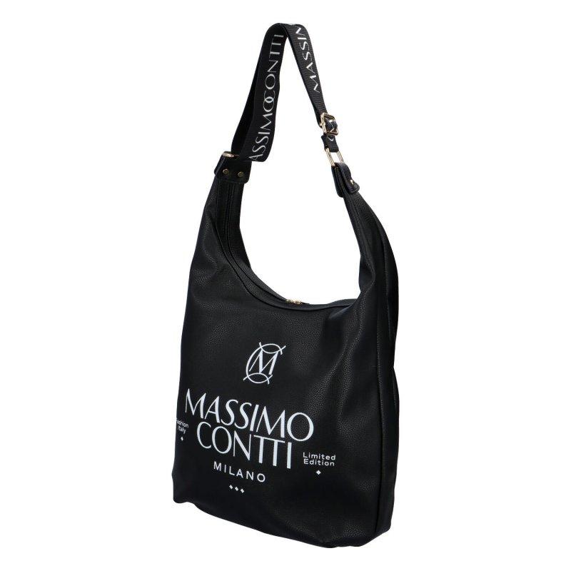 Trendy prostorná kabelka Massimo Emily, černá