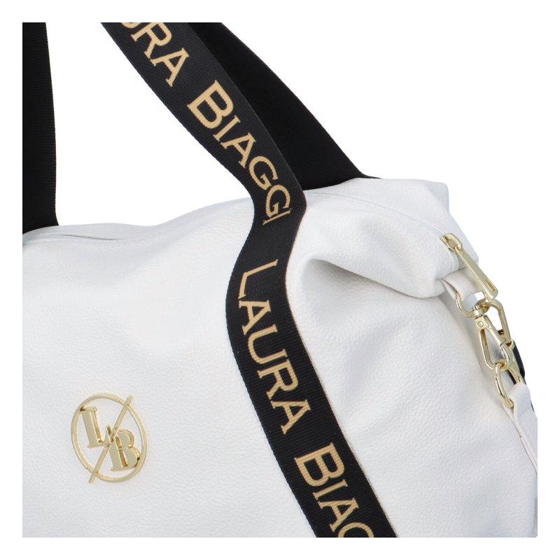 Koženková kabelka Laura Viola, bílá