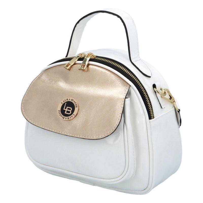 Dámská koženková kabelka Modern Laura B., bílá