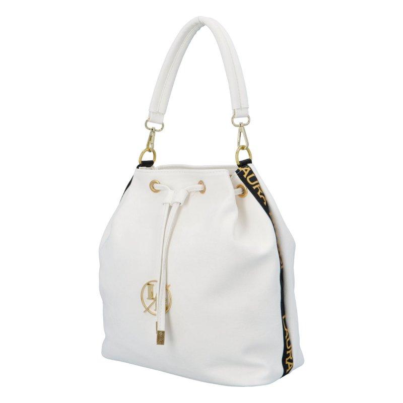 Trendy koženková kabelka-vak Urban, bílá