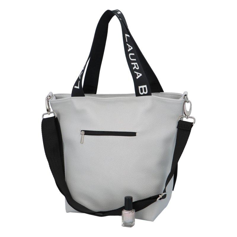 Trendy dámská kabelka Zina, stříbrná