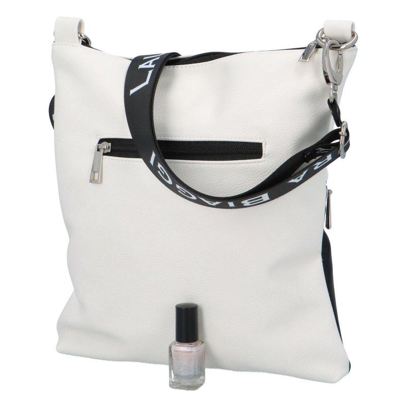 Stylová menší crossbody kabelka Michelle, černo-bílá