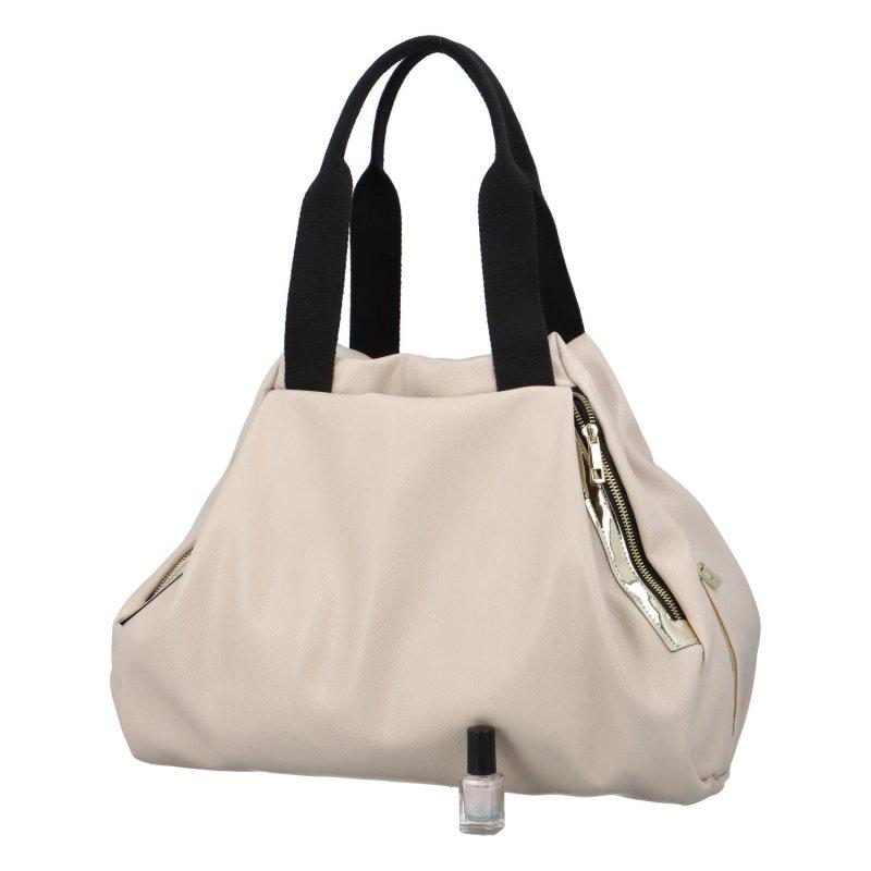 Trendy zajímavá kabelka LB Eugenia, béžová