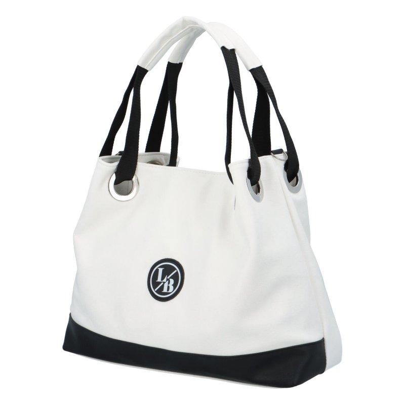 Větší dámská taška LB Brie, bílá