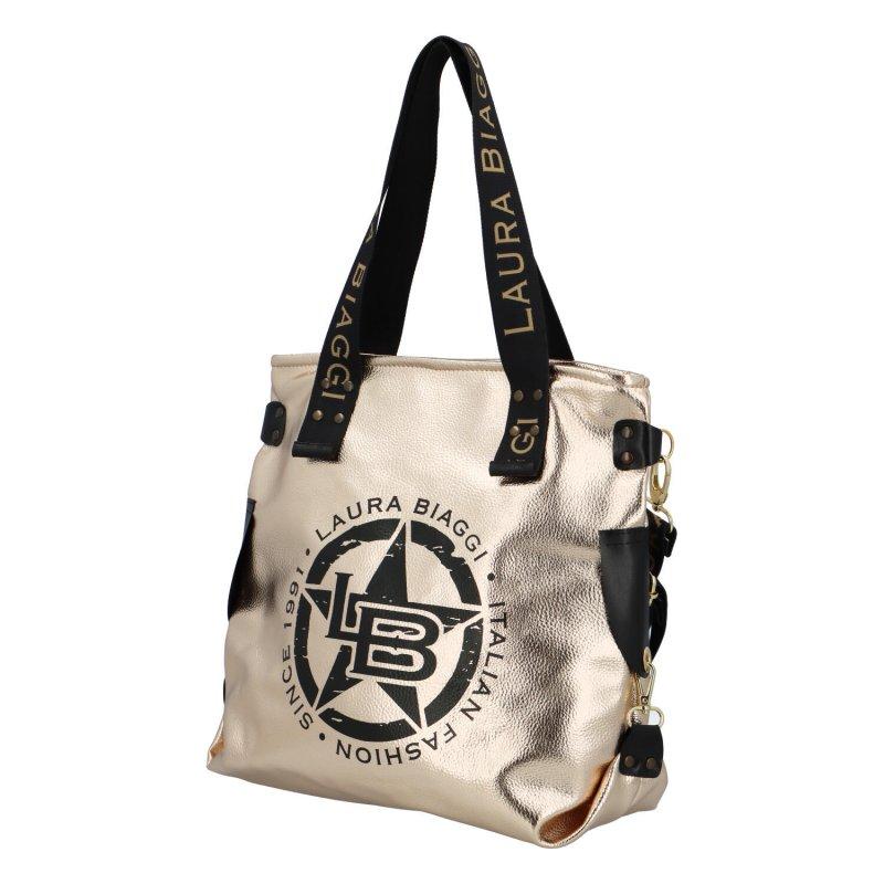 Trendová dámská kabelka L.B. Star, zlatá