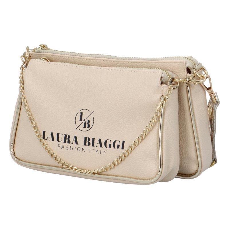 Elegantní dámská kabelka LB Sisley, béžová