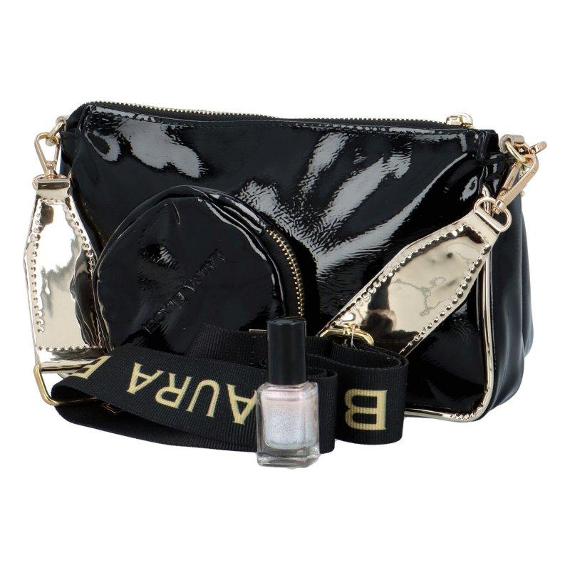 Elegantní dámská kabelka LB Sisley, černá