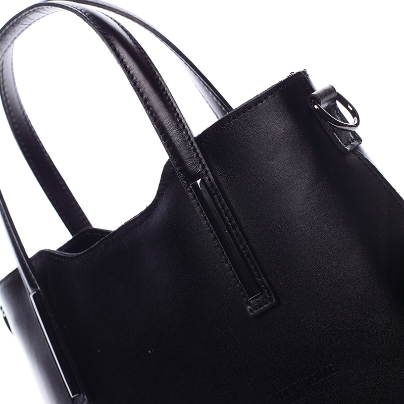 Dámská kožená kabelka Abi, černá