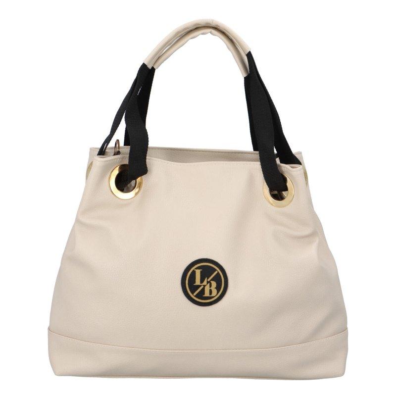 Větší dámská taška LB Crispy, béžová
