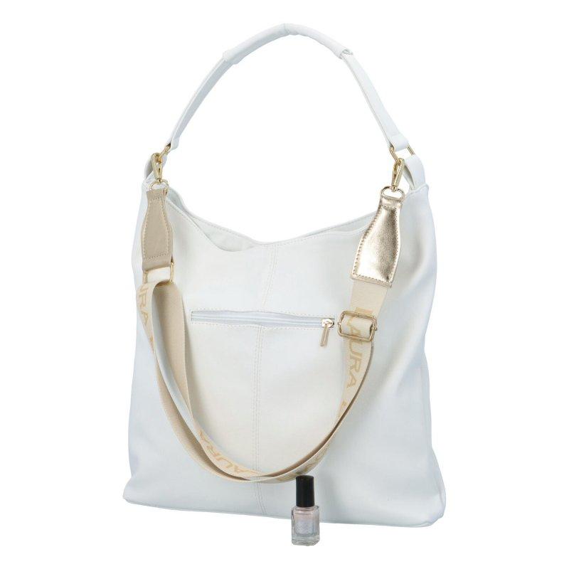 Praktická módní kabelka Lenny, bílá