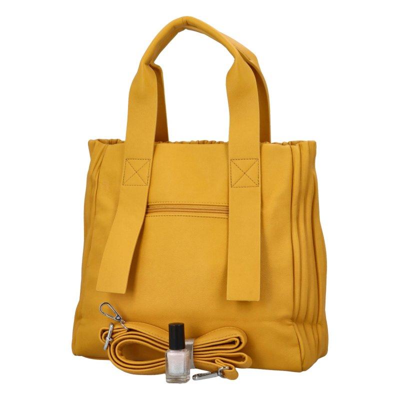 Luxusní koženková kabelka Sicily, žlutá