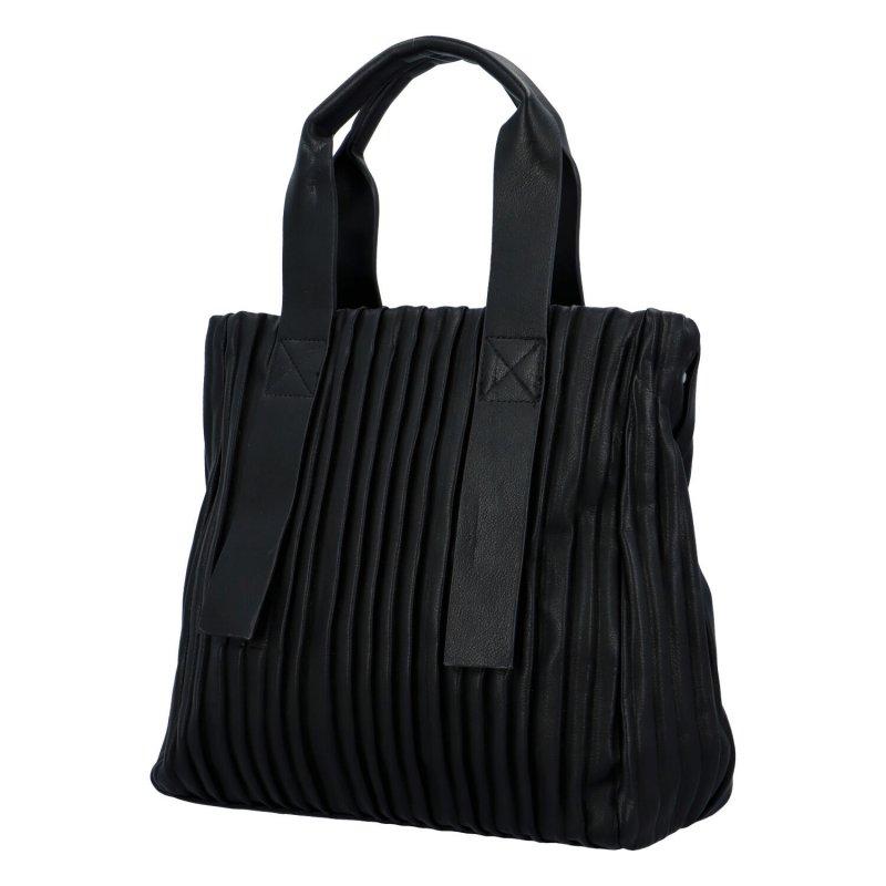 Luxusní koženková kabelka Sicily, černá