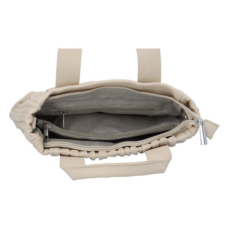 Luxusní koženková kabelka Sicily, béžová