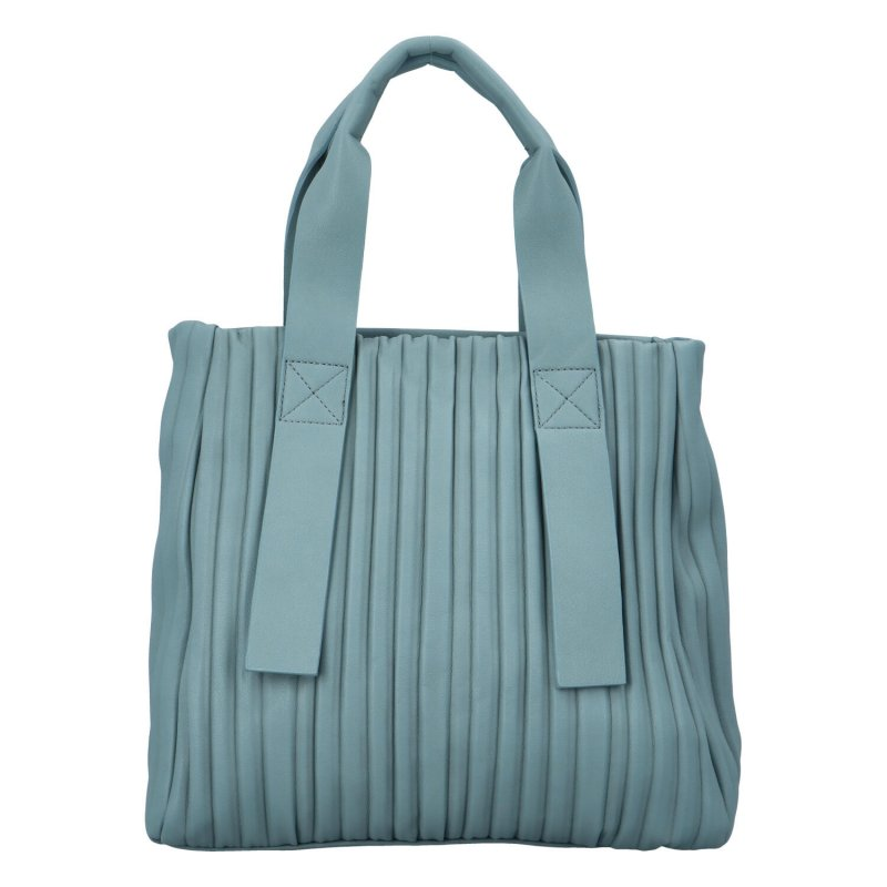 Luxusní koženková kabelka Sicily, světle modrá