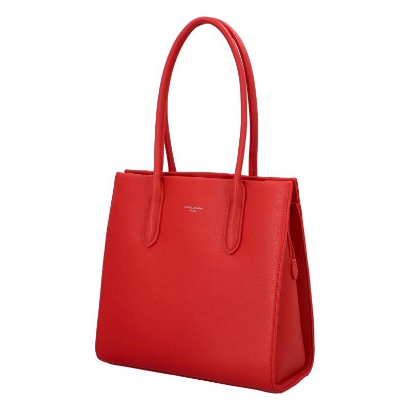 Stylová dámská kabelka Kamila, červená