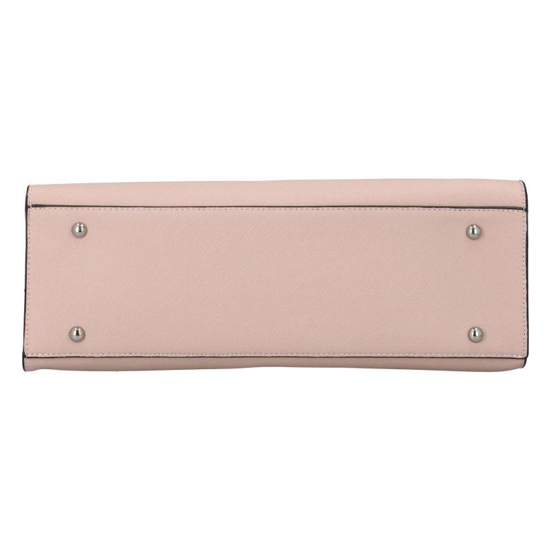 Stylová kufříková kabelka Donatello, růžová