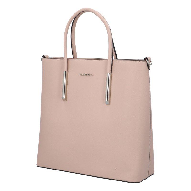 Elegantní kufříková kabelka Kamila, růžová