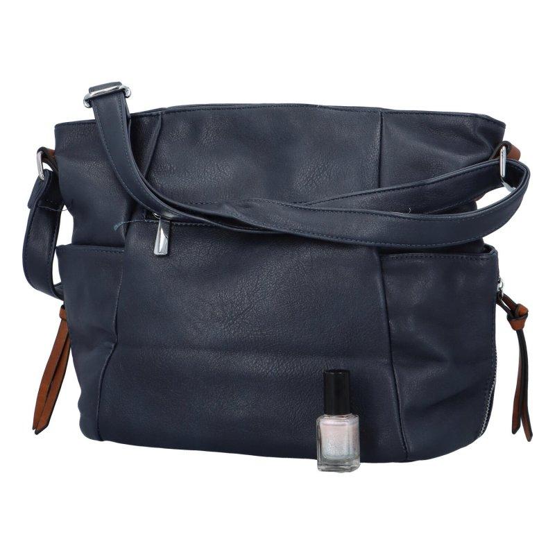 Trendy dámská kabelka přes rameno Tamara, modrá