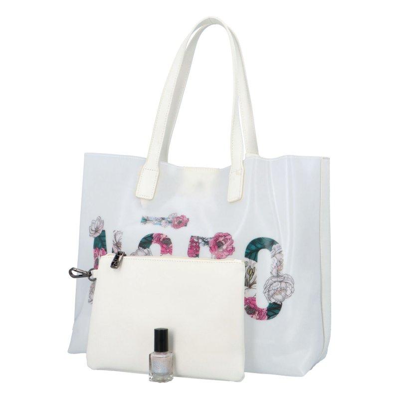 Krásná prostorná kabelka Bruno, bílá