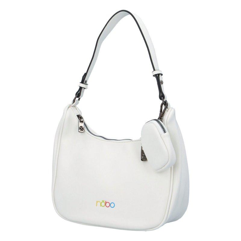 Módní malá kabelka Bei, bílá