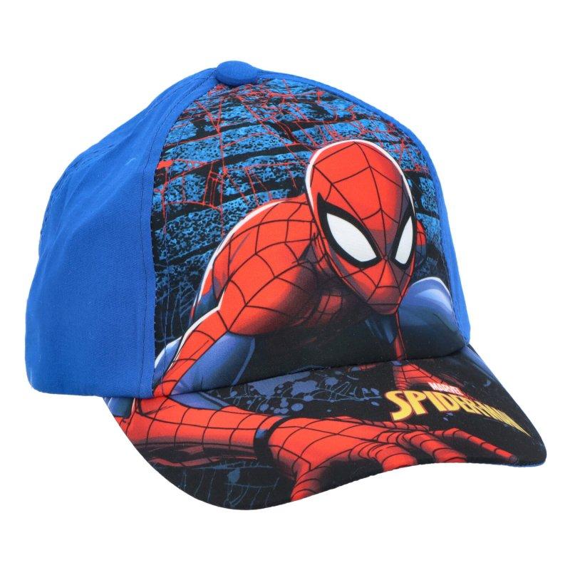 Dětská kšiltovka Spiderman, modrá, velikost 54