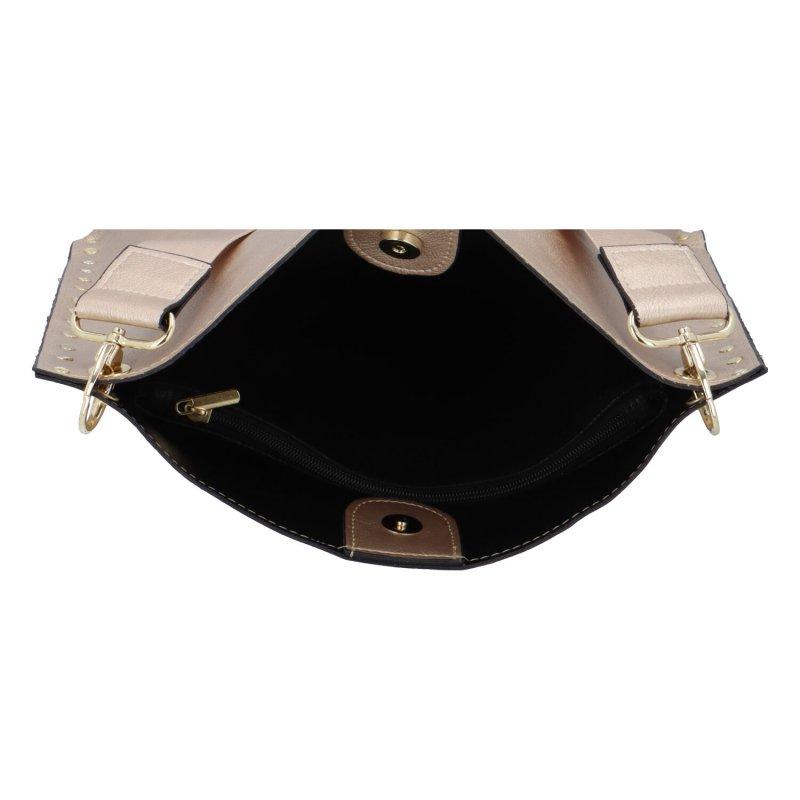 Luxusní elegantní koženková kabelka Judith, zlatá