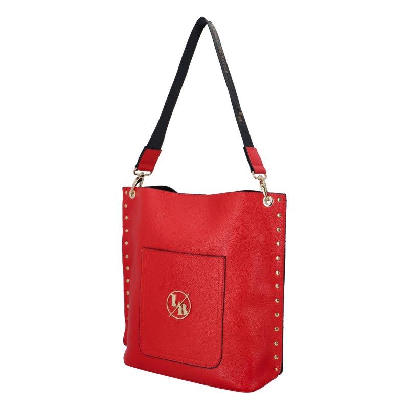 Luxusní elegantní koženková kabelka Judith, červená