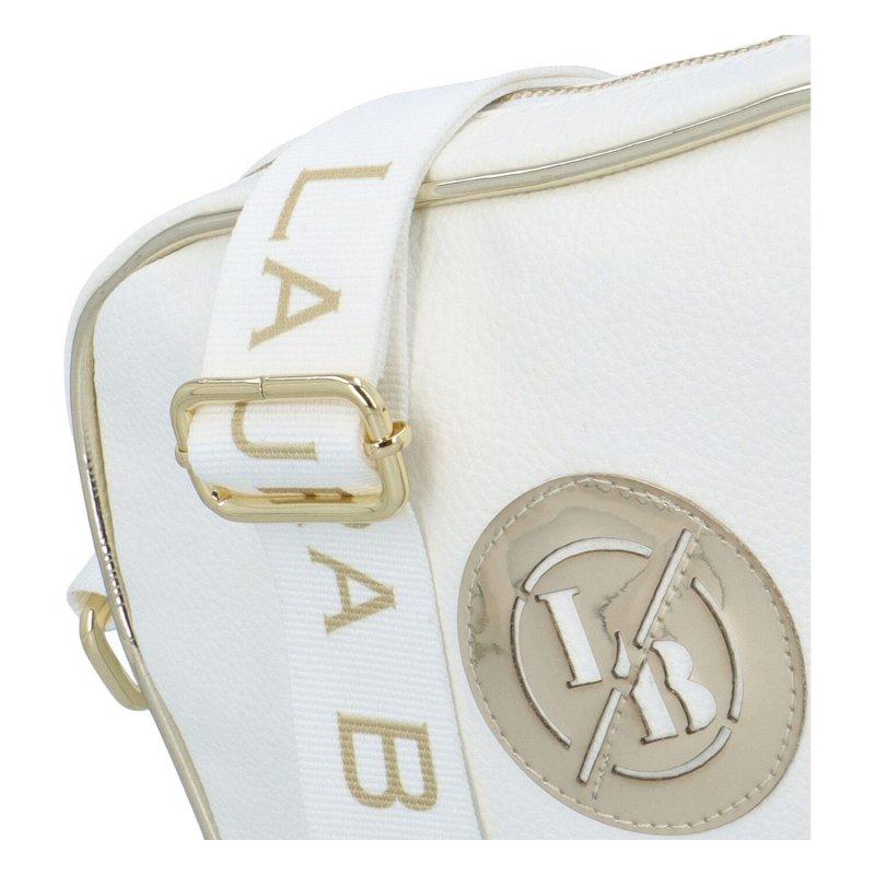 Sportovní dámská crossbody Lili sport Biaggi bílá-zlatá