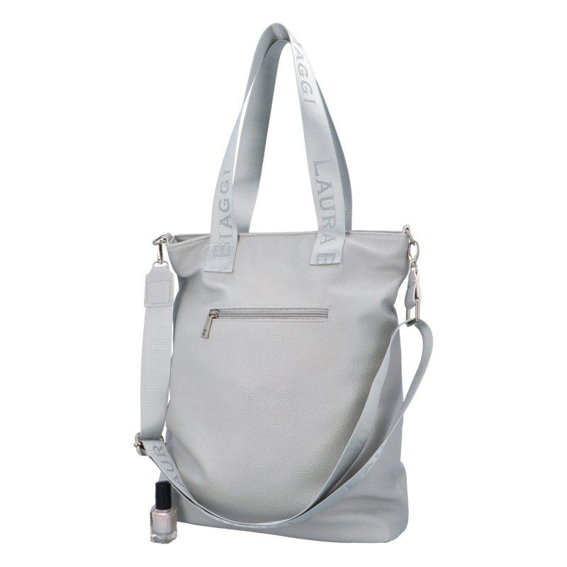 Dámská koženková kabelka Italy fashion lady, šedá